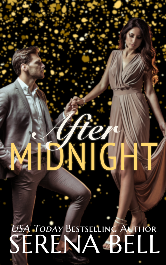 Book cover, dark, with gold graffiti. A man in a suit kneels to the take the hand of a woman in a beautiful dress.